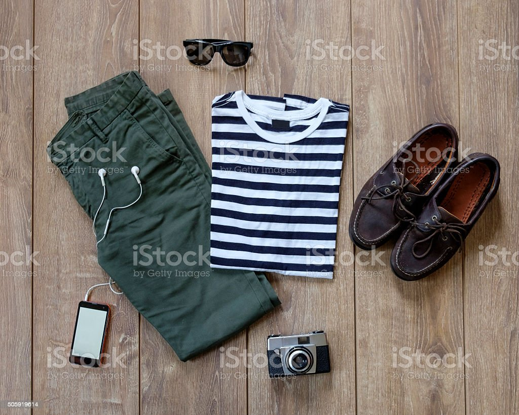 Casual man outfit stock photo