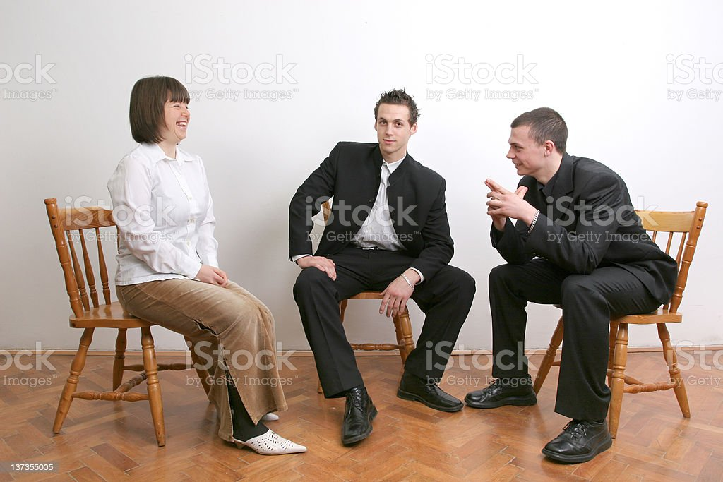 Casual meeting royalty-free stock photo