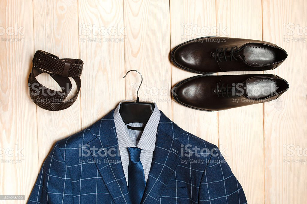 casual men's cloth and accessory stock photo