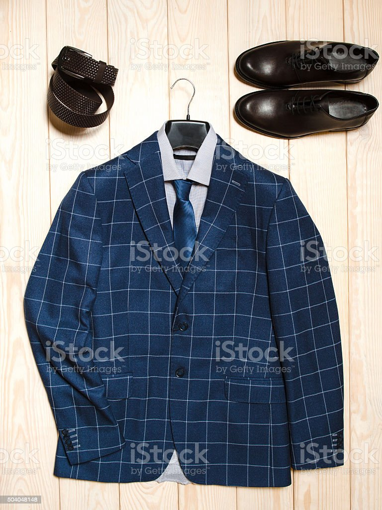 casual menswear business outfit stock photo