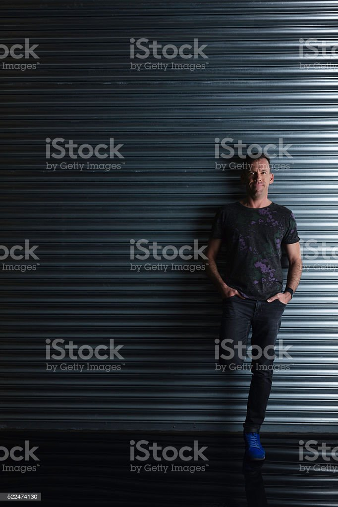 Casual Middle-aged Man stock photo