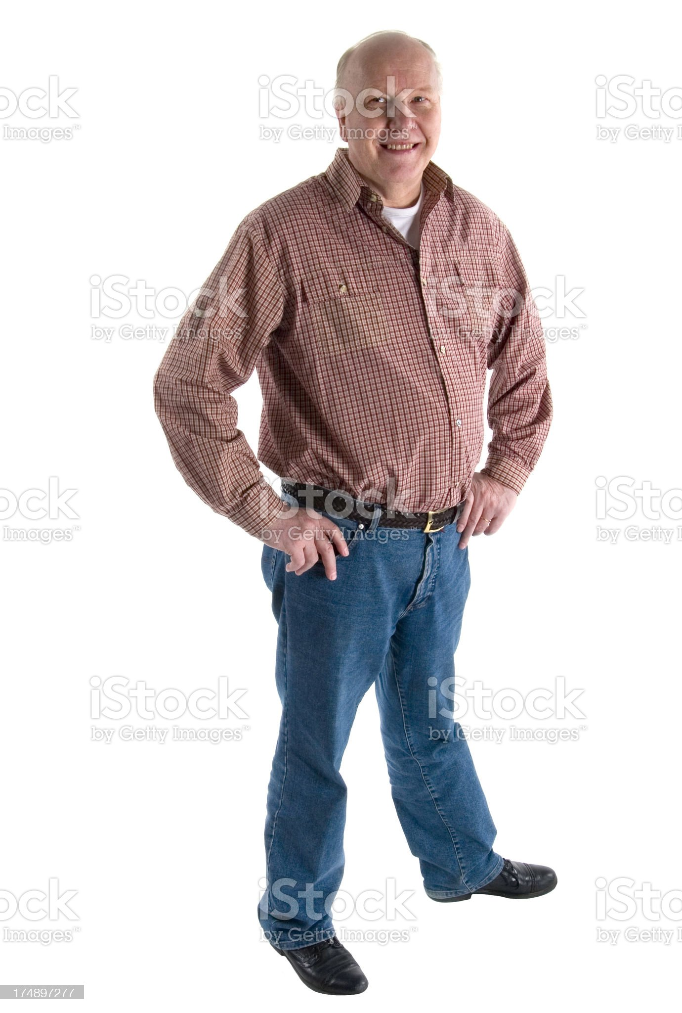 casual older man royalty-free stock photo