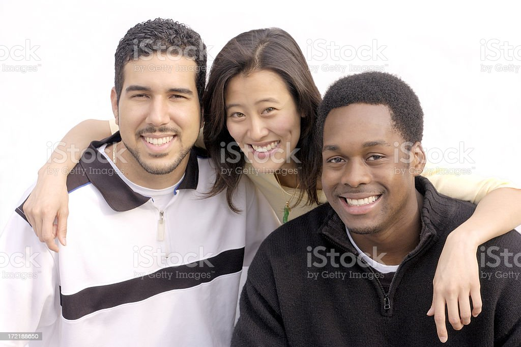 casual pals royalty-free stock photo