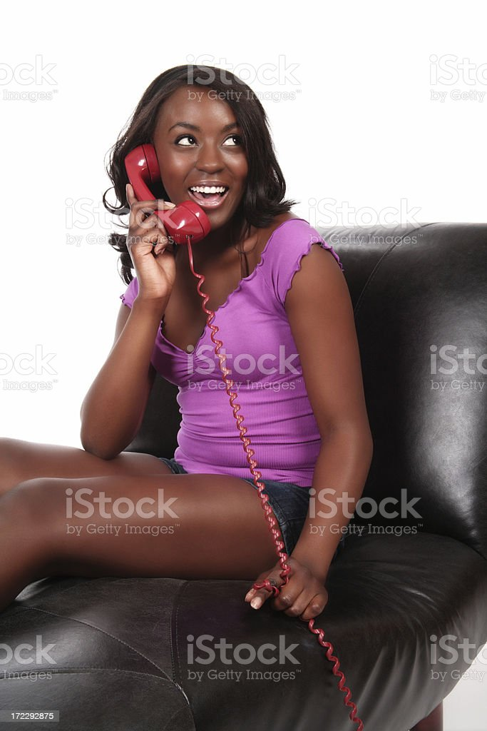 Casual Phone Conversation stock photo