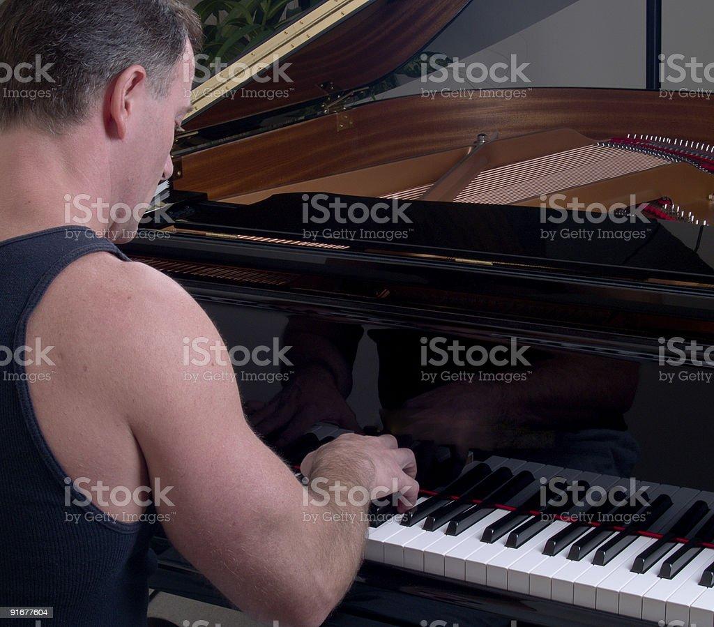 Casual Piano Player stock photo