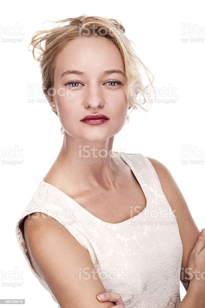 Casual Portrait of a beautiful woman royalty-free stock photo
