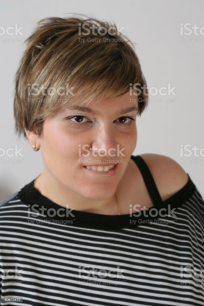 Casual portrait royalty-free stock photo