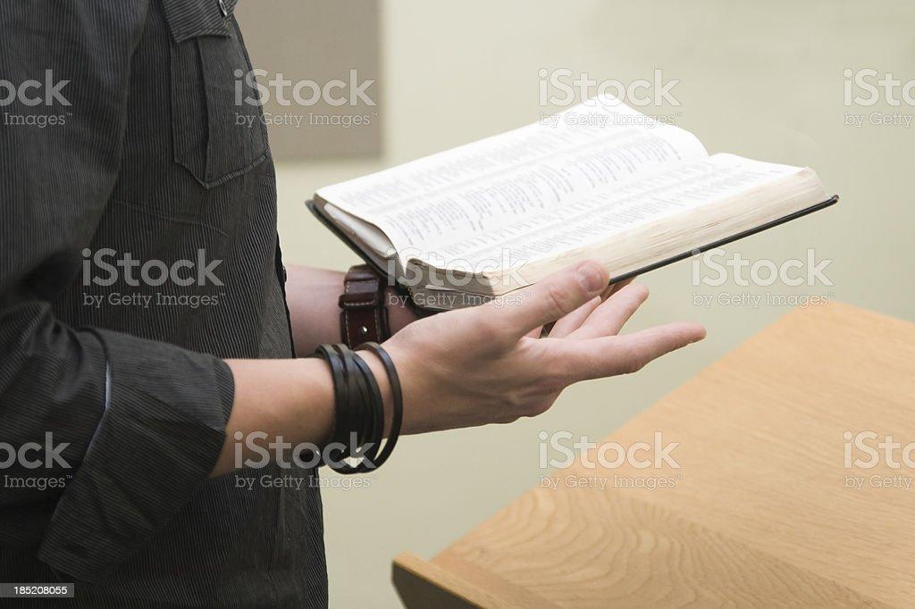 Casual Preacher stock photo