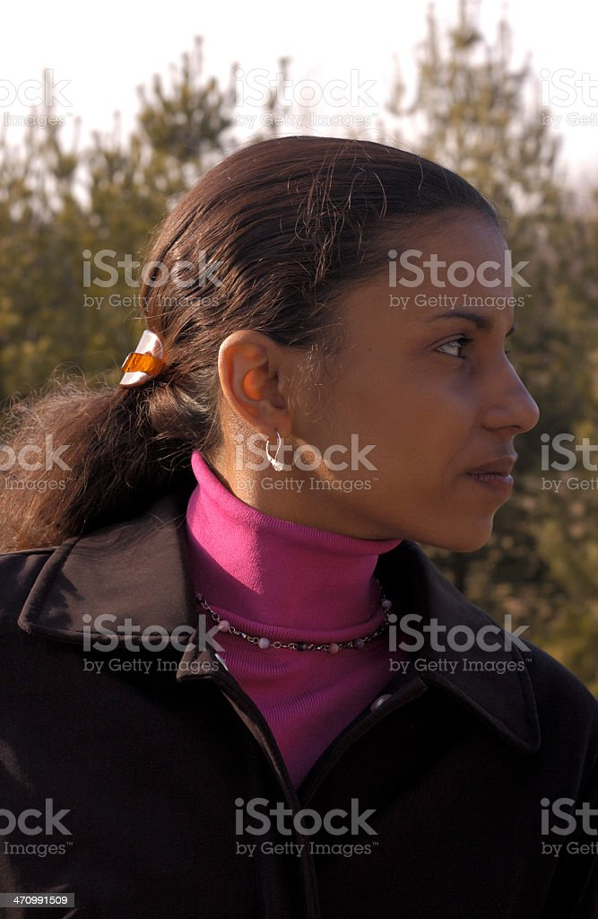 casual profile royalty-free stock photo