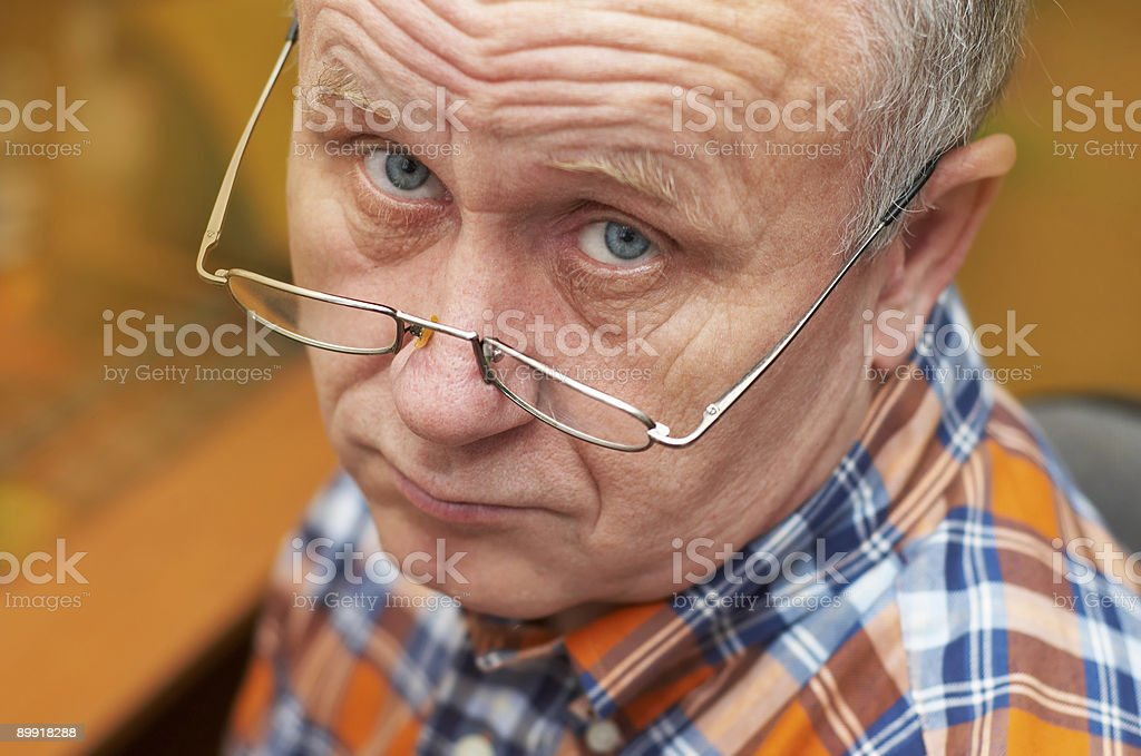 Casual  senior man with glasses . royalty-free stock photo