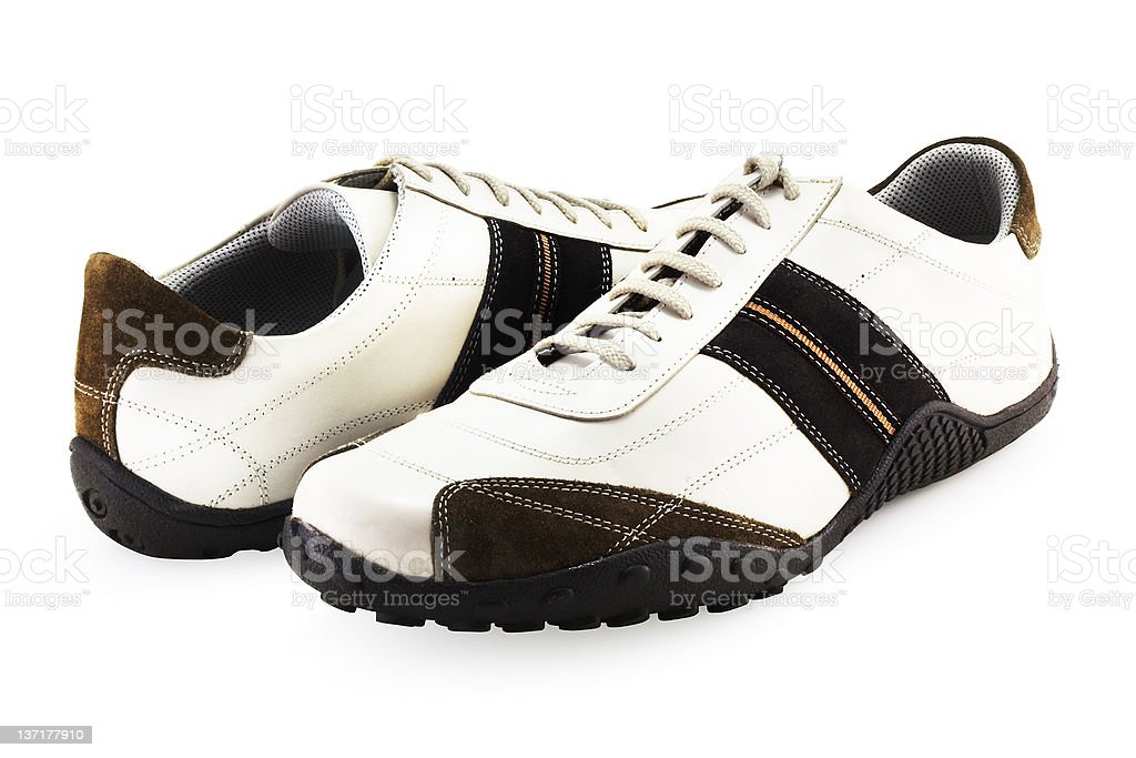 Casual Shoes on White (include clipping path) royalty-free stock photo