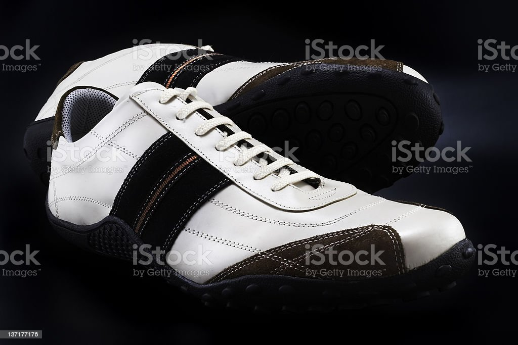 Casual Shoes (isolated on black) royalty-free stock photo
