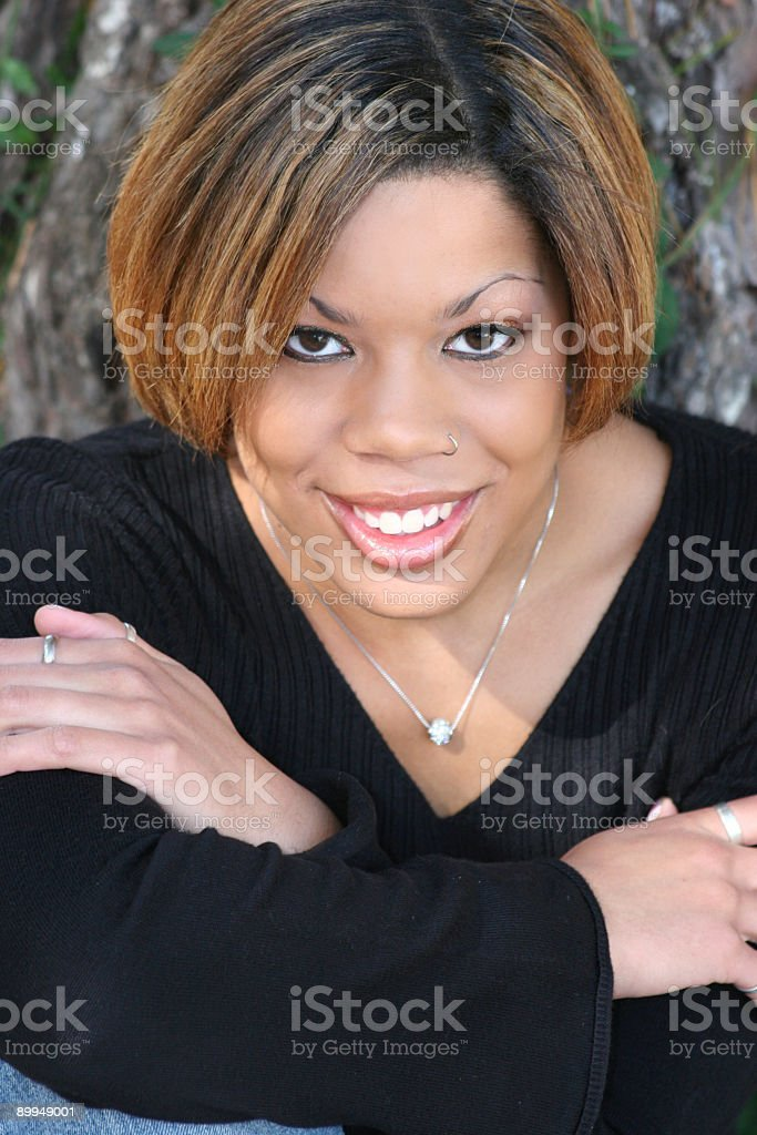 casual smile royalty-free stock photo