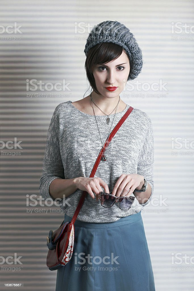 Casual street style fashion stock photo
