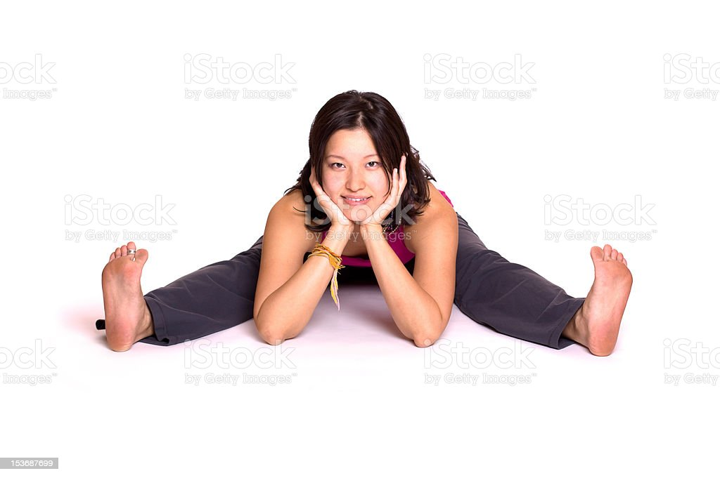 Casual Stretching royalty-free stock photo