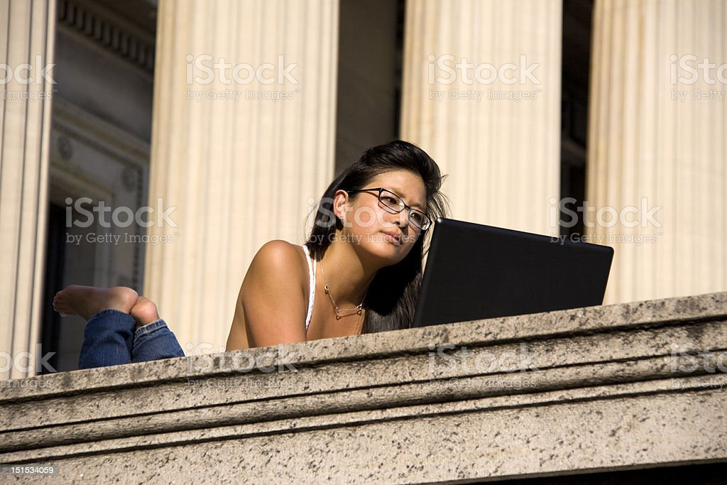 Casual Studying royalty-free stock photo