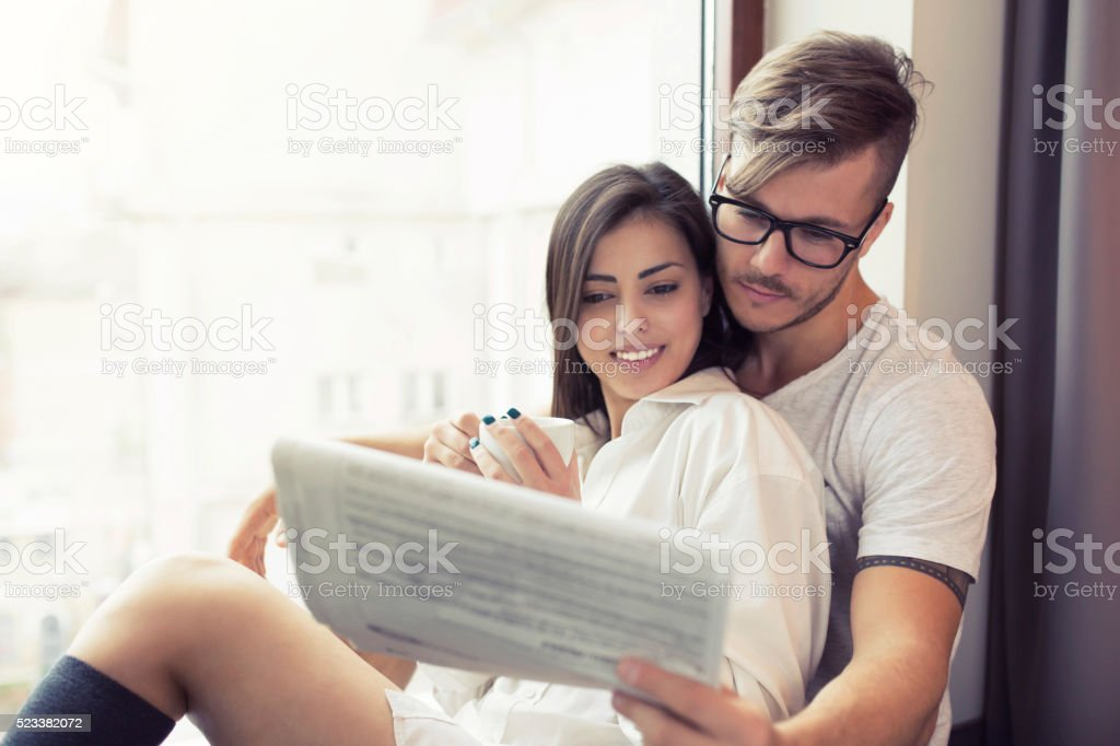 Casual Sunday Mornings stock photo