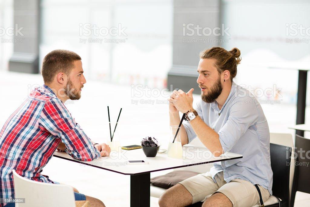 Casual Talk stock photo