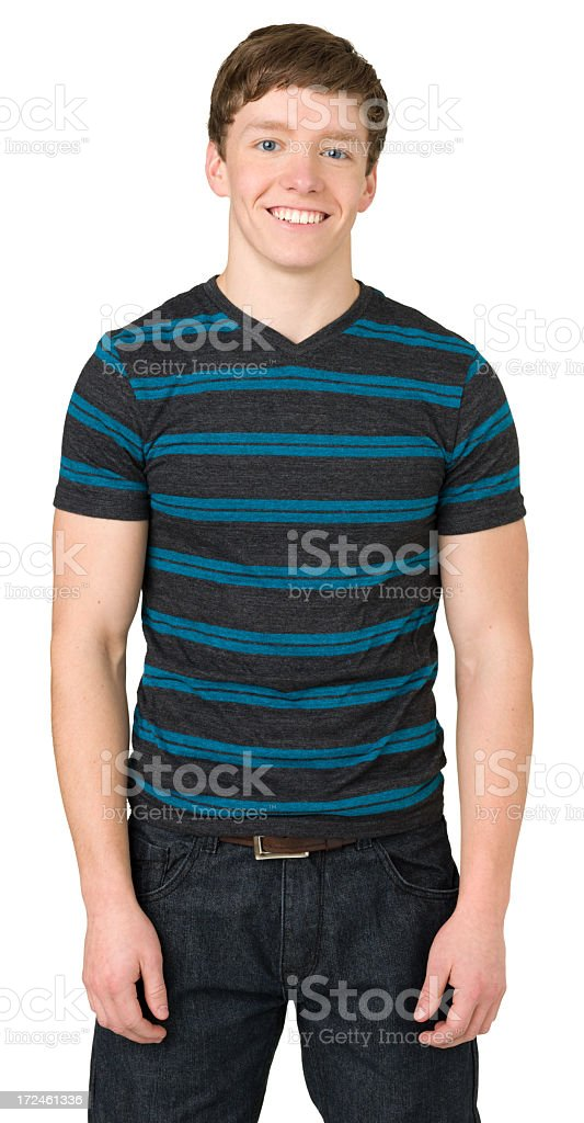 Casual Teenage Boy Three Quarter Length Portrait royalty-free stock photo