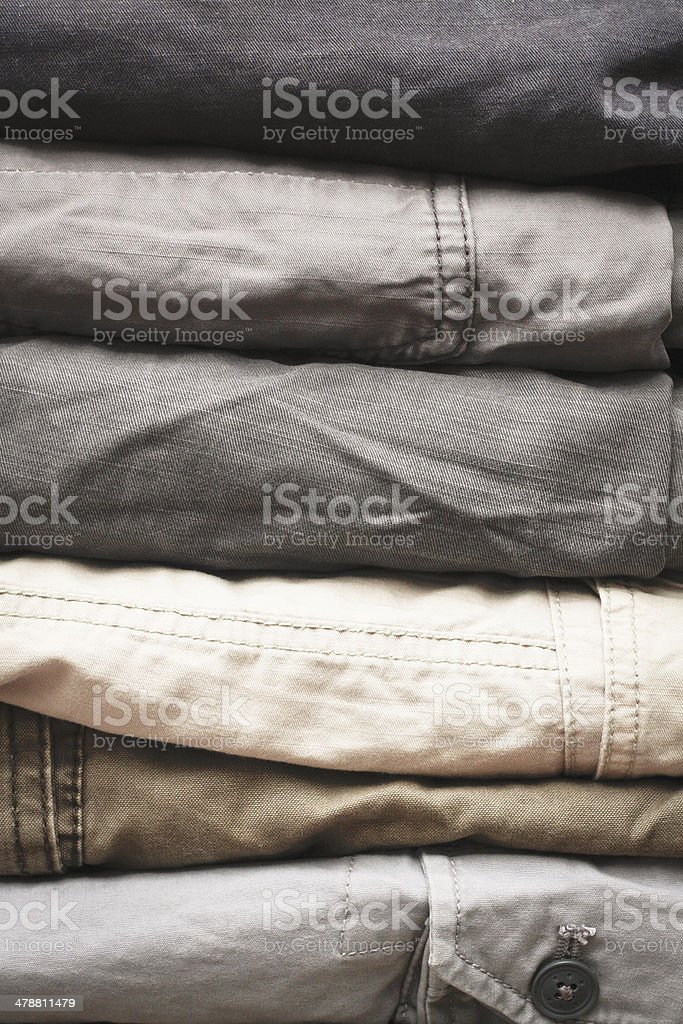 Casual trousers stock photo