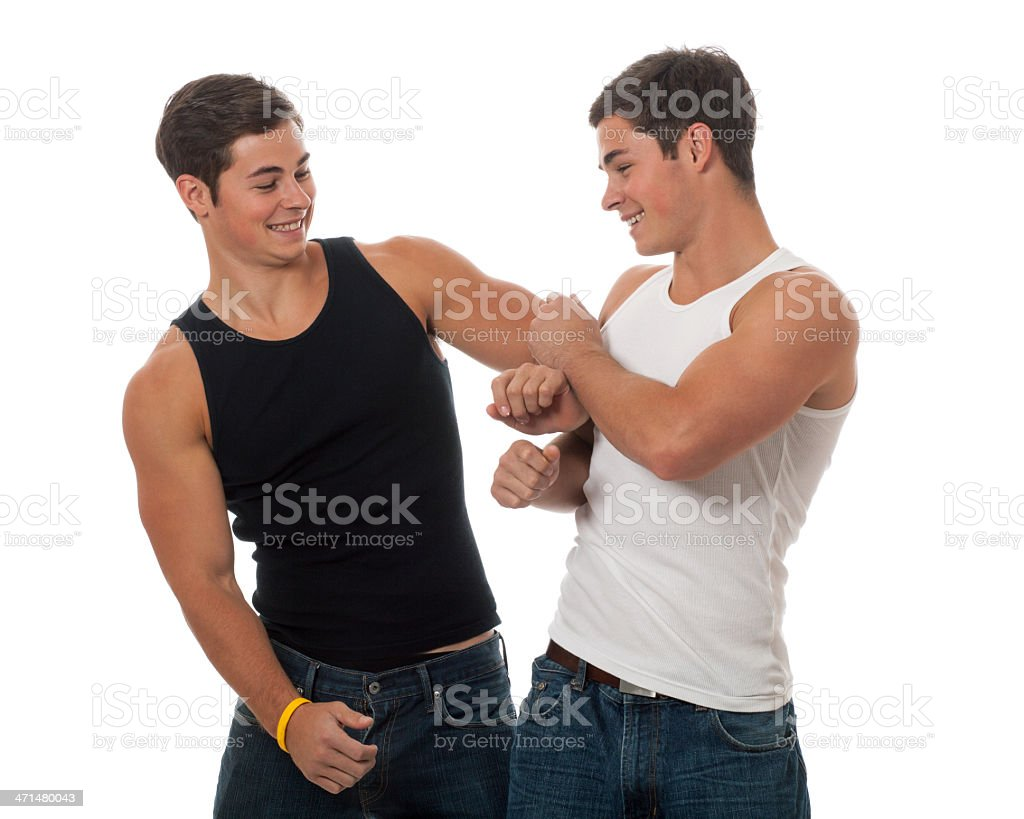Casual Twins stock photo