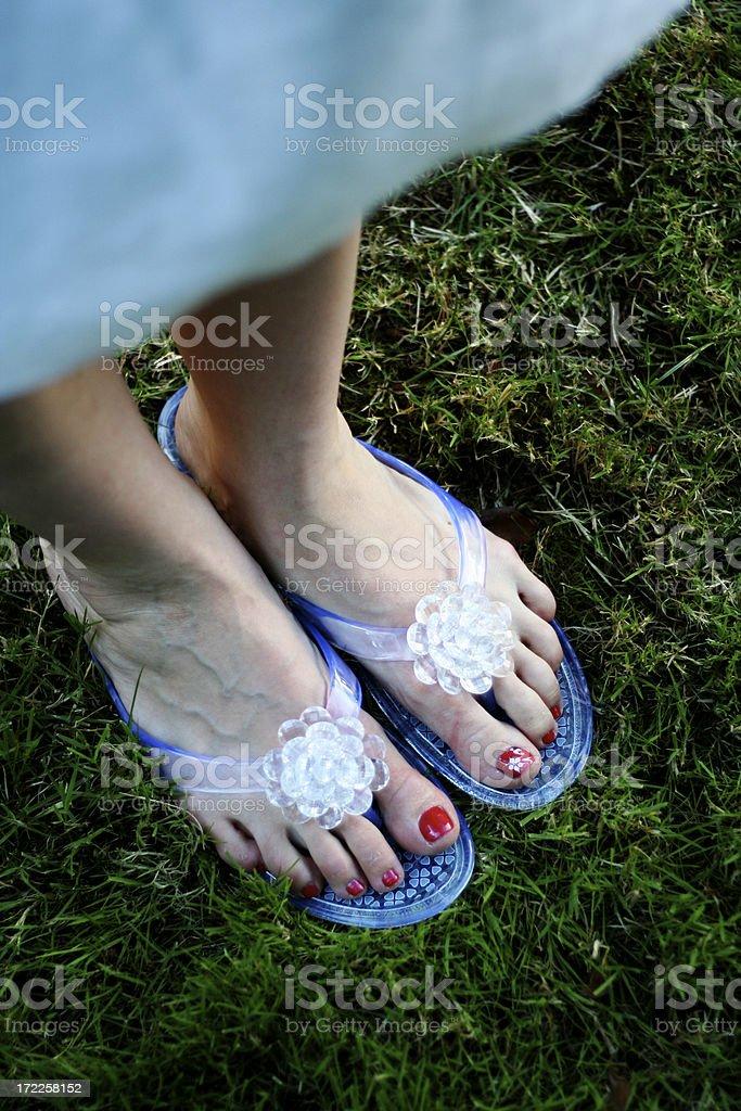 casual wedding feet royalty-free stock photo