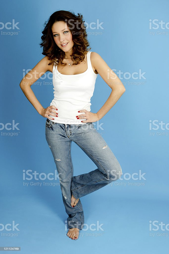 Casual Woman portrait royalty-free stock photo
