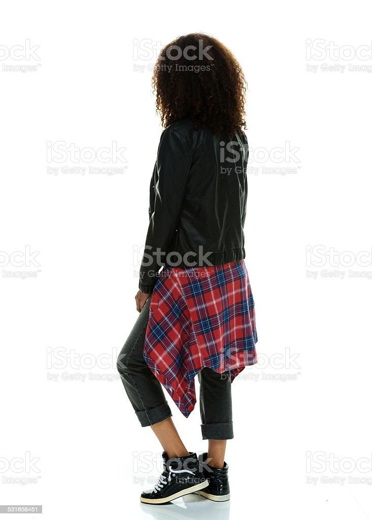 Casual woman posing stock photo