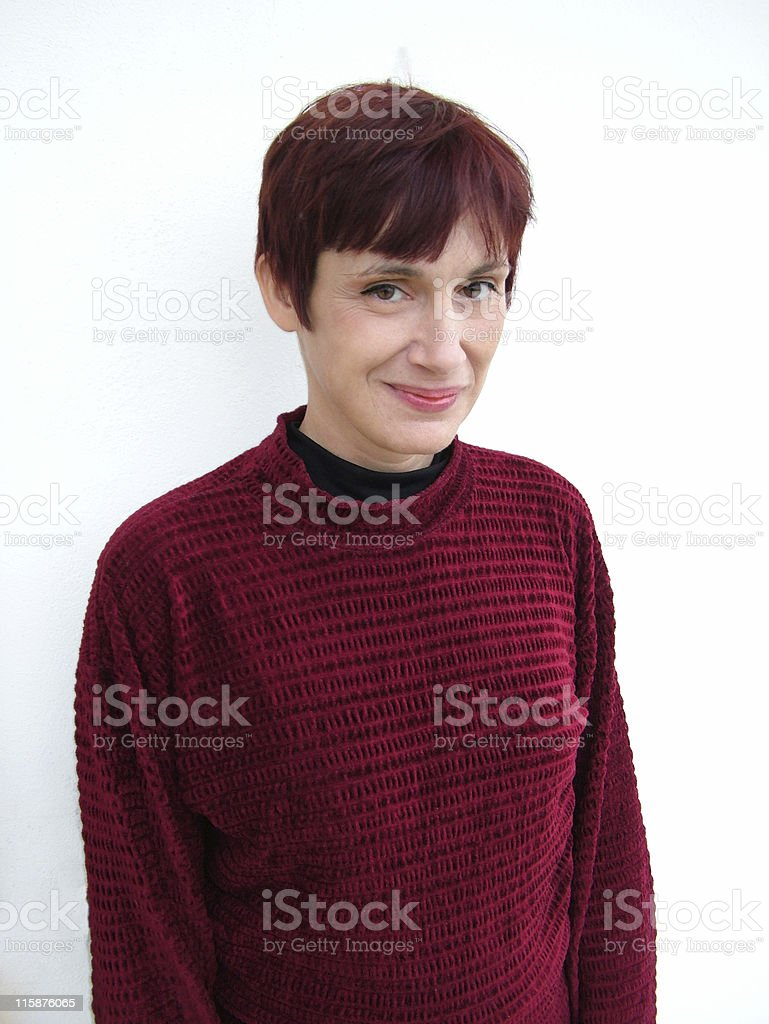 Casual woman smiling royalty-free stock photo