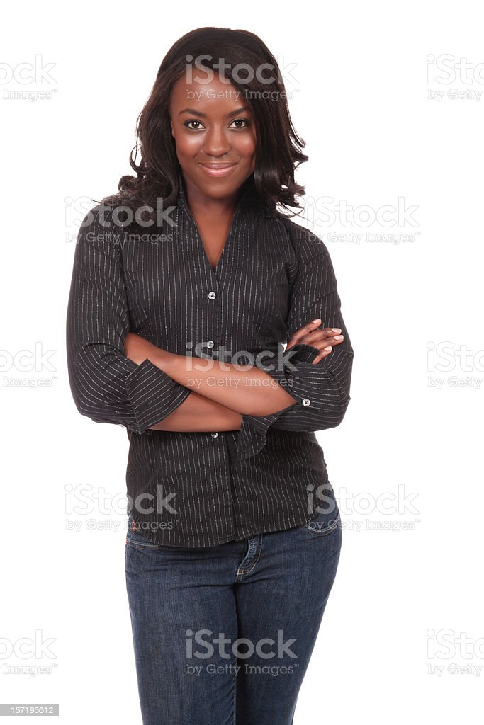 Casual Woman with Attitude stock photo