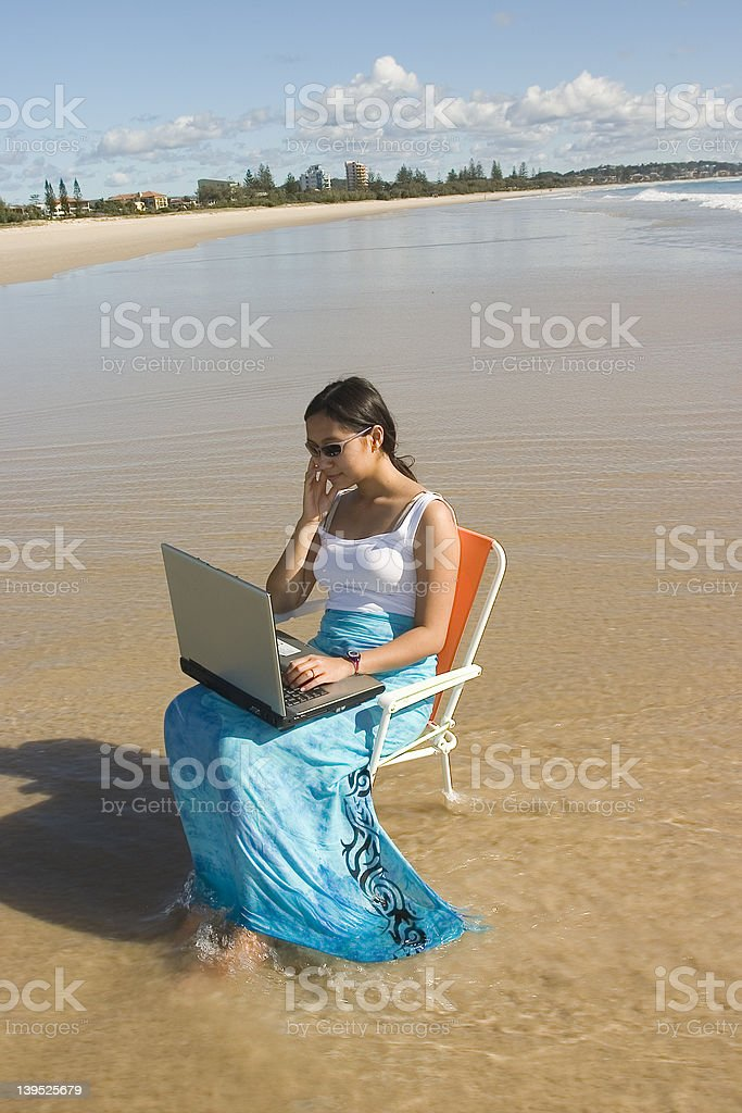 Casual Worker royalty-free stock photo
