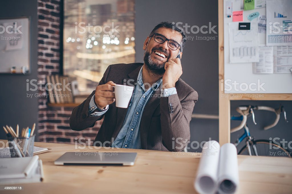 Casual working day. stock photo