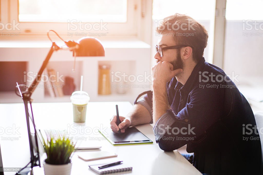 Casual working day stock photo