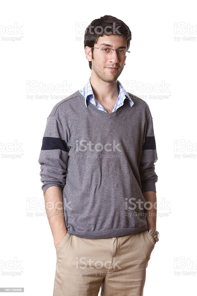 Casual young adult portrait royalty-free stock photo
