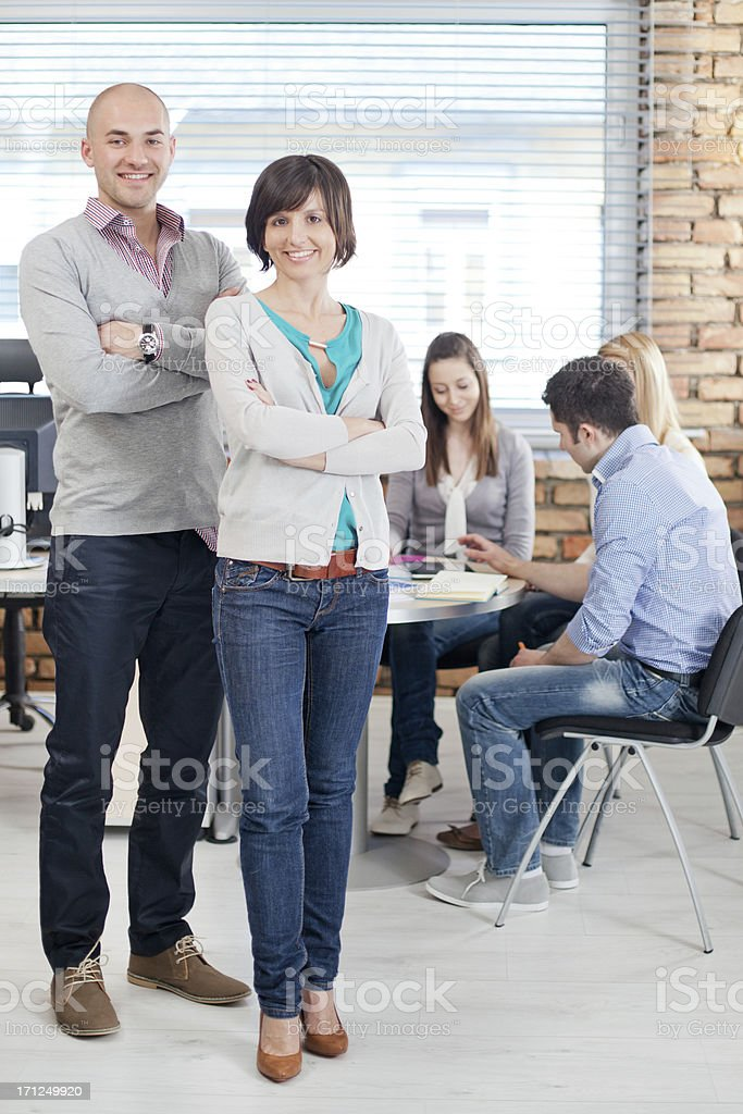 Casual Young Business People stock photo