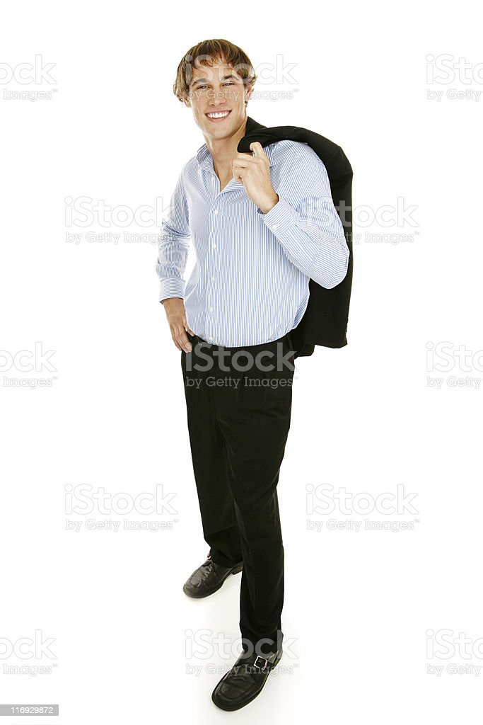 Casual Young Businessman - Full Body royalty-free stock photo