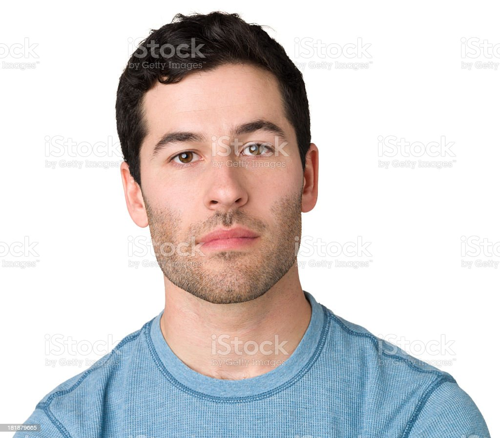 Casual Young Man Blank Expression Portrait royalty-free stock photo