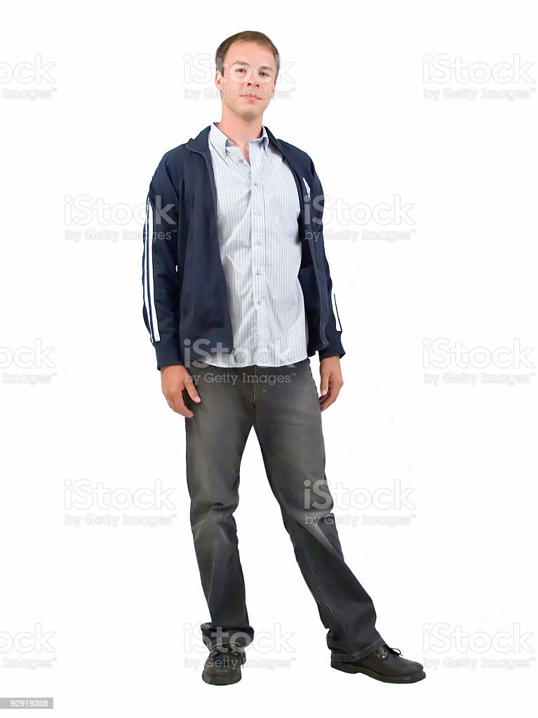 Casual young man stock photo