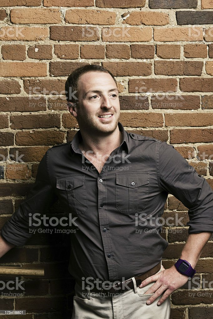 Casual Young Man Smiling stock photo