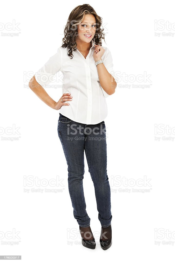 Casual Young Woman stock photo