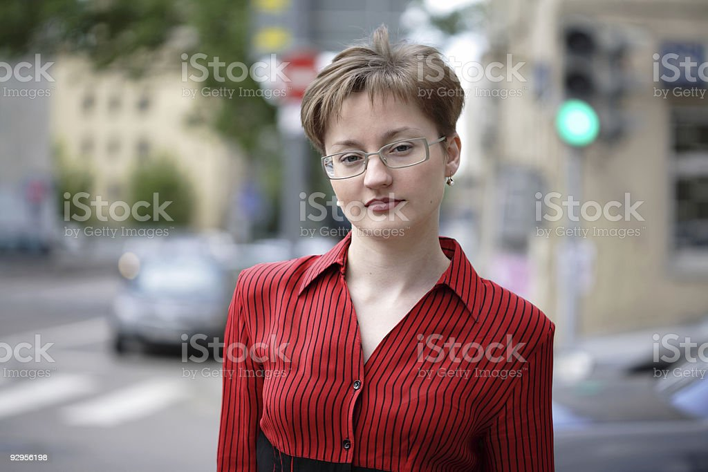 casual young woman portrait royalty-free stock photo