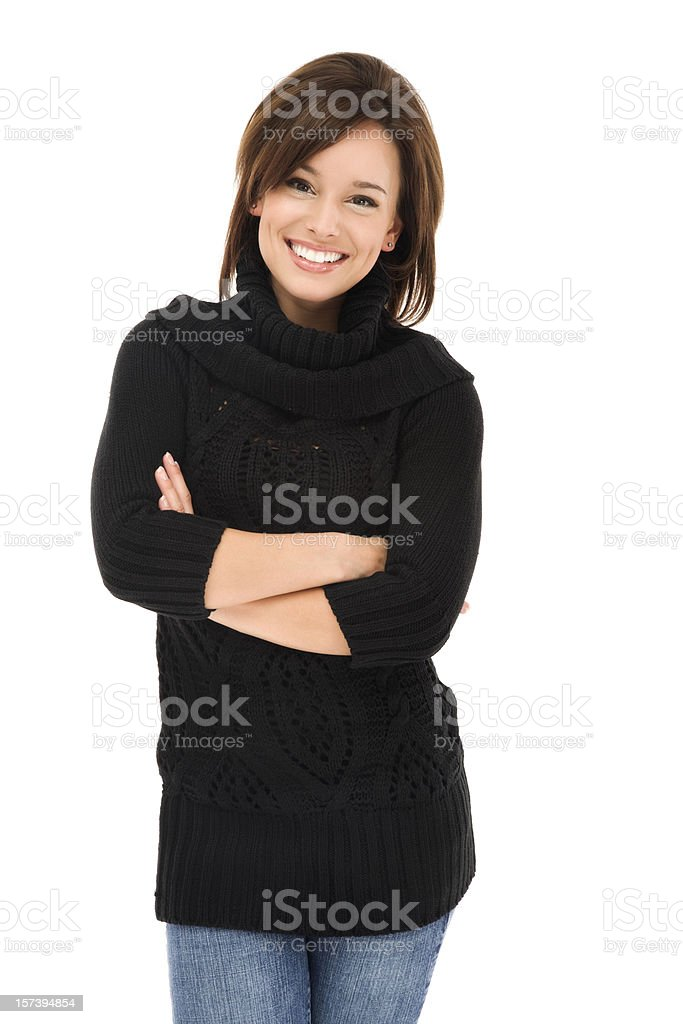 Casual Young Woman with A Friendly Smile royalty-free stock photo