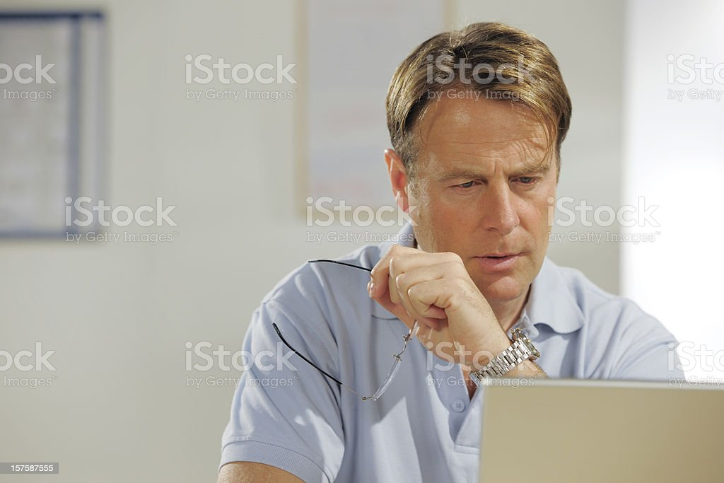 casually dressed mature businessman stock photo