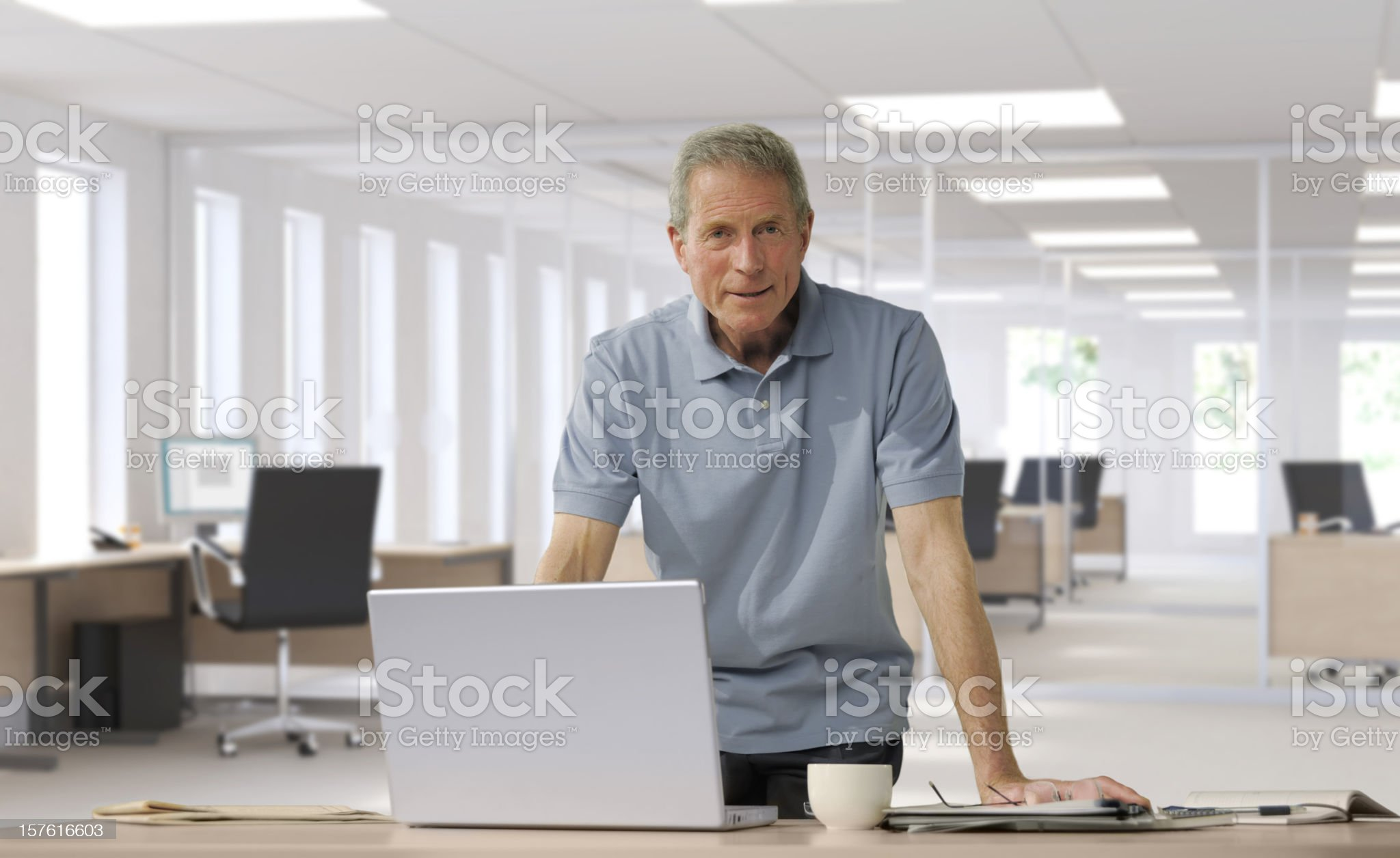 casually dressed mature businessman royalty-free stock photo