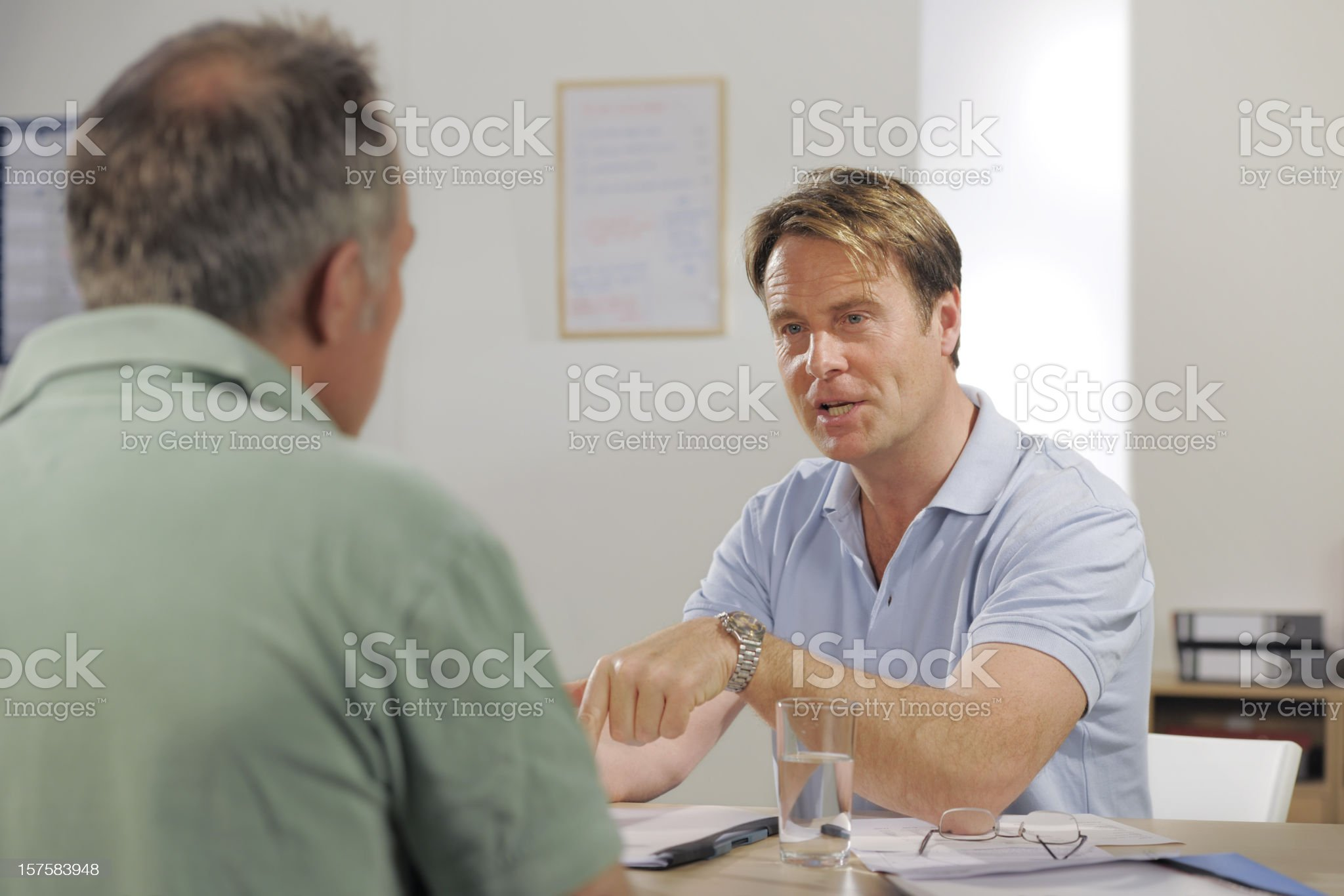 casually dressed mature businessmen royalty-free stock photo