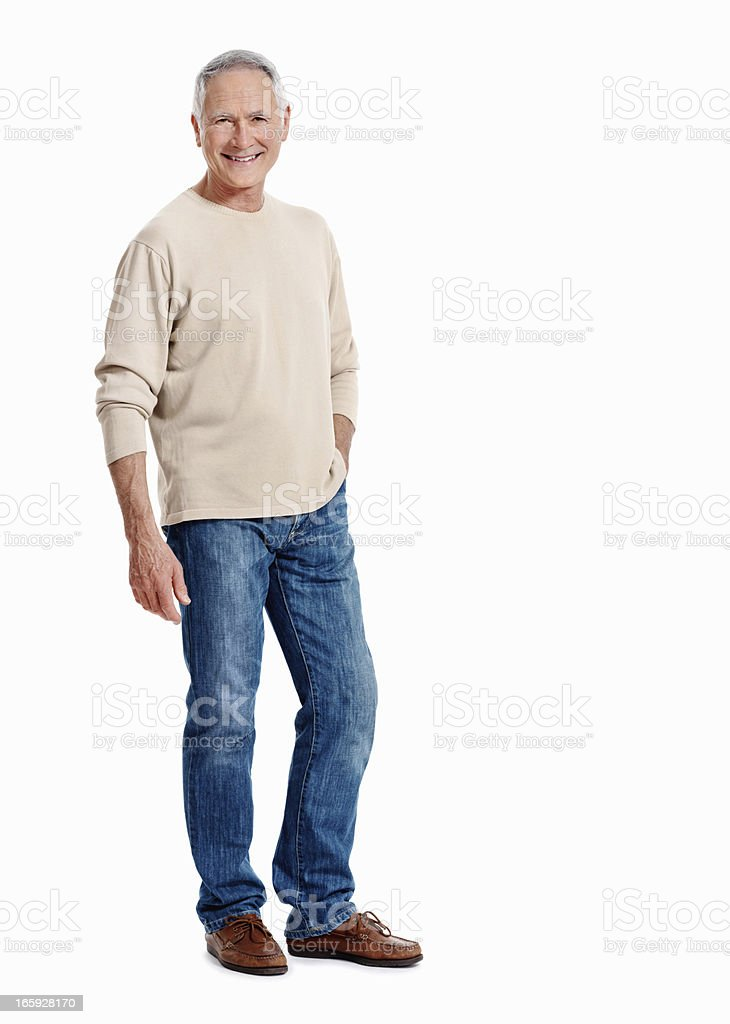 Casually dressed senior stock photo