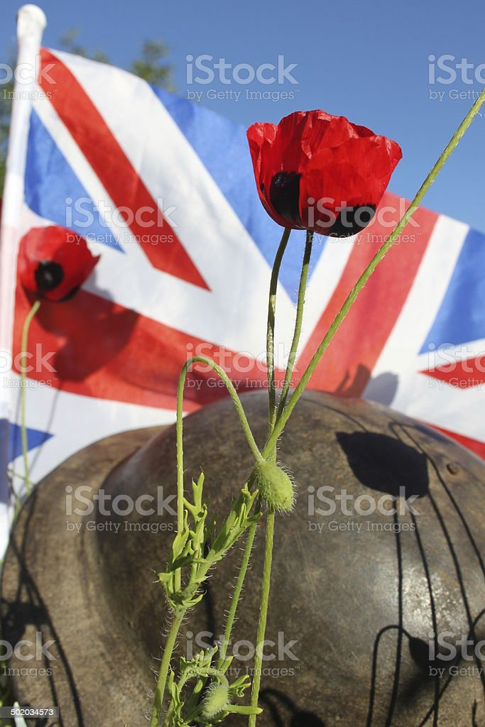 WW1 Casualty. stock photo
