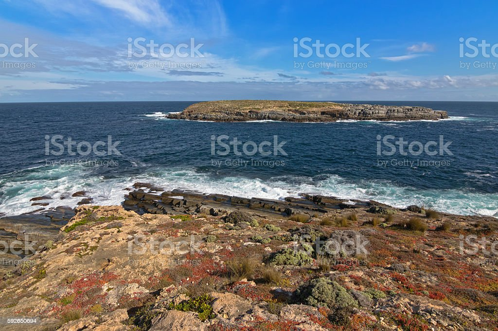 Casuarina islets, also called The Brothers, Flinders Chase National Park stock photo