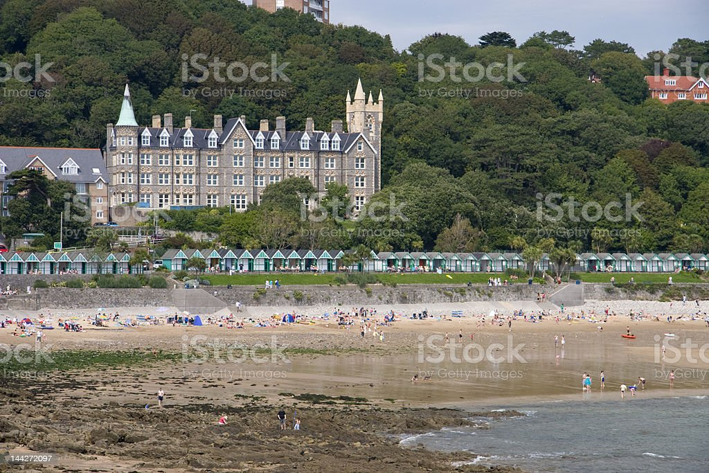 Caswell bay, Gower peninsula ,South Wales stock photo