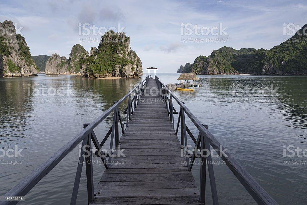 Cat Ba island, Ha Long Bay royalty-free stock photo